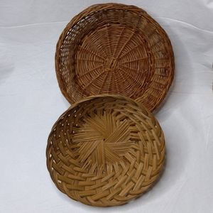 Woven Straw Baskets Palm Grapevine